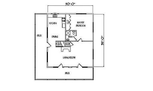 Log Home Plan #01103