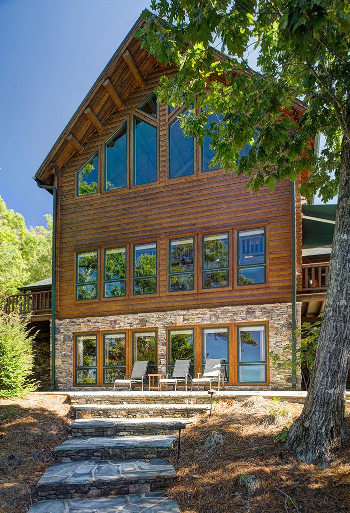 South Carolina Log Home exterior4