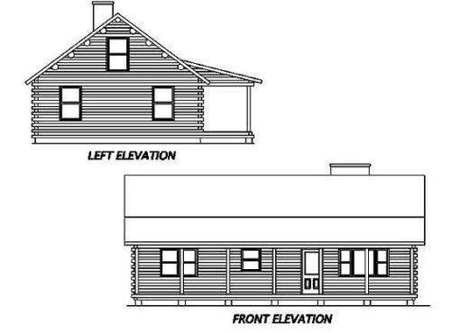 Log Home Plan #01914