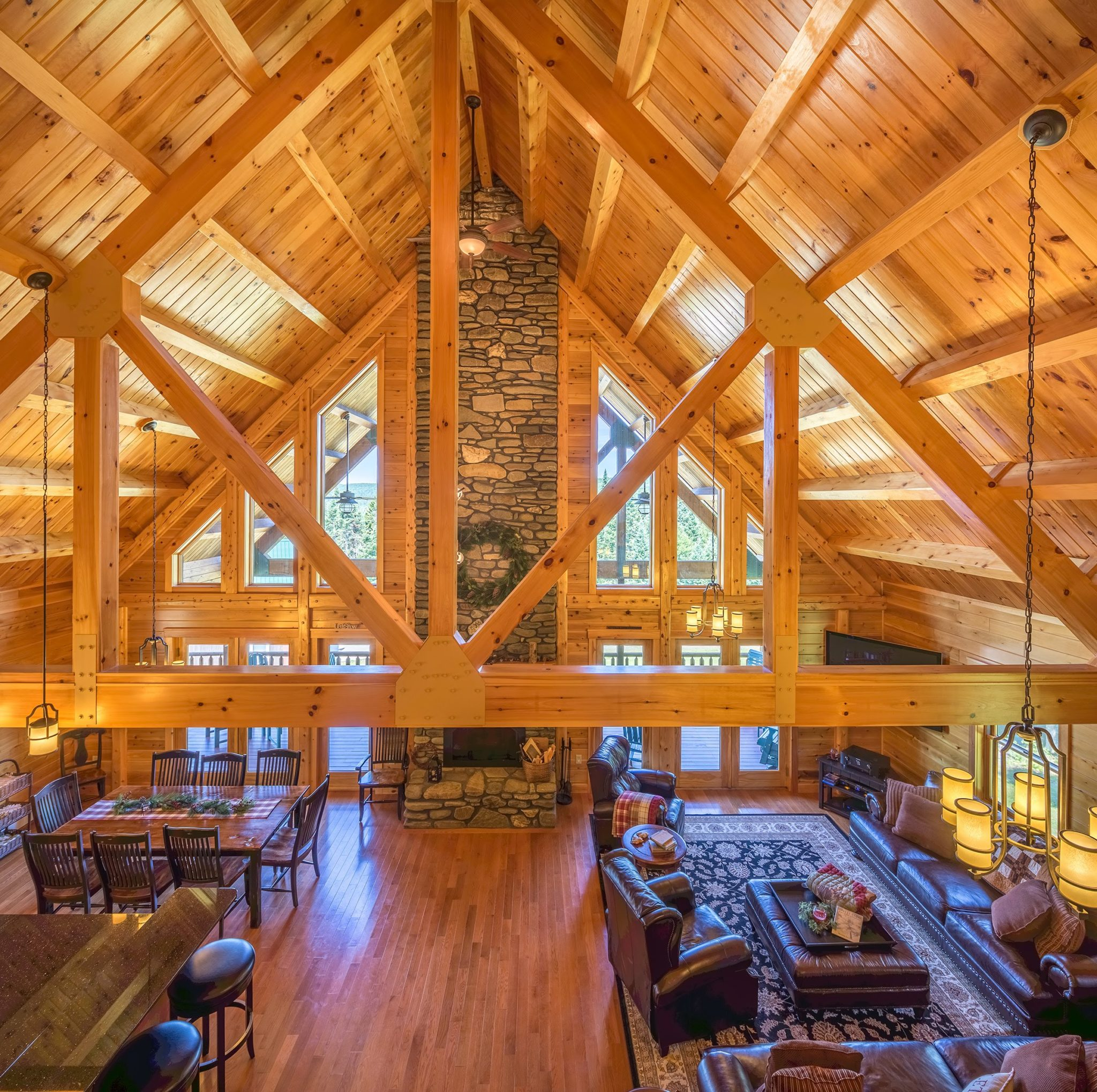 Cathedral Ceilings Efficiency Managing Airflow Katahdin Cedar Log Homes