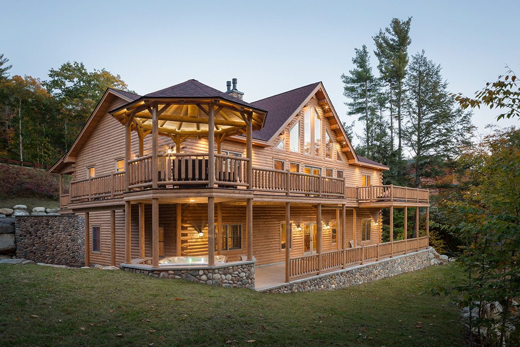 Rediker log home kit large log cabin homes for Cabin house plans with photos