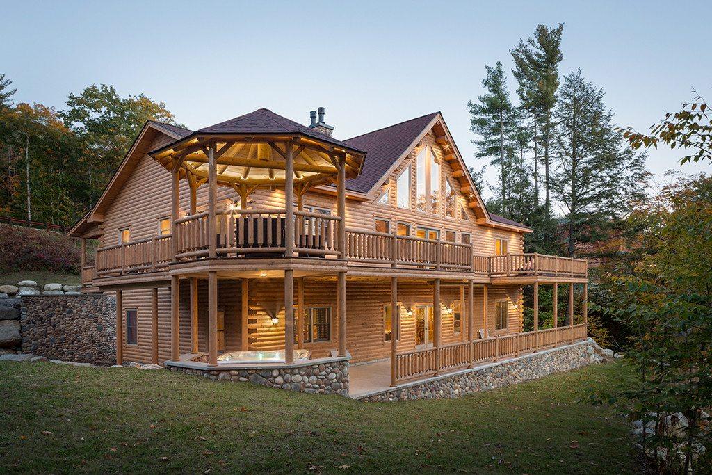 Covered Bridge Log Homes Of Pennsylvania Katahdin Cedar Log Cabin Kits Iowa