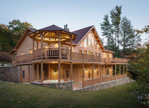 Log home plans katahdin cedar log homes for Cedar cabin floor plans