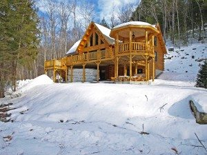 Spend a winter day at a log home show to learn about Katahdin Cedar Log Homes energy efficient and beuatiful cabins.