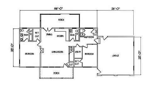 Log Home Plan #01788