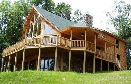 Custom log home floor plans katahdin design portfolio for Cedar cabin floor plans
