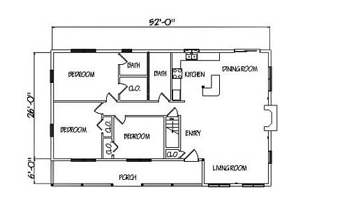 Log Home Plan #01806