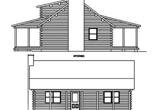 Log Home Plan #01807