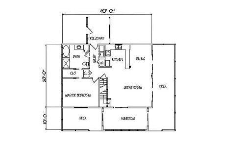 Log Home Plan #01809