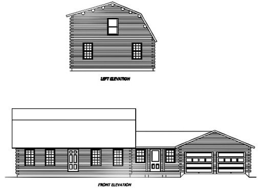 Log Home Plan #01811