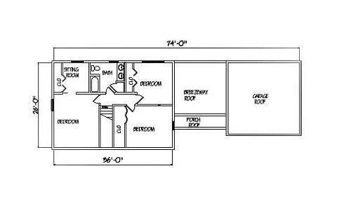 Log Home Plan #01811