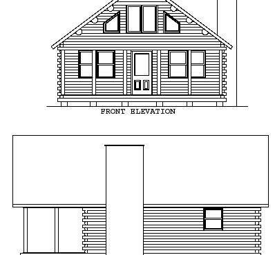 Log Home Plan #01813