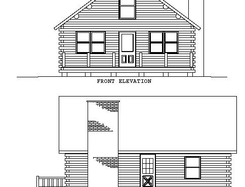 Log Home Plan #01817