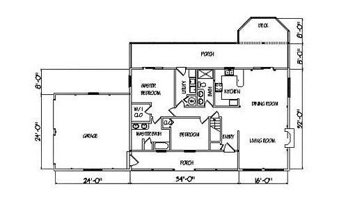 Log Home Plan #01827