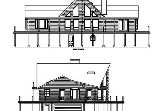 Log Home Plan #01831