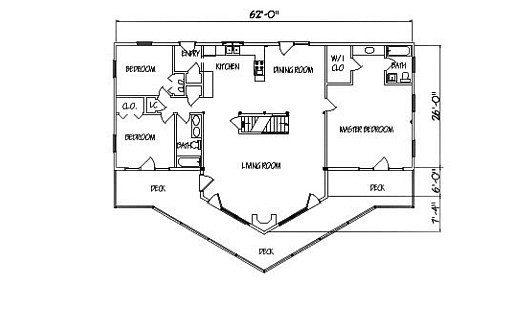Log Home Plan #01835