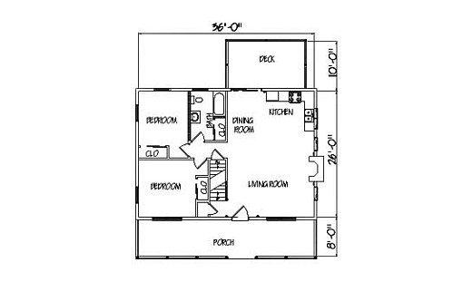 Log Home Plan #01838
