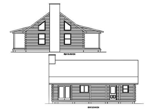 Log Home Plan #01839