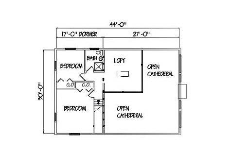 Log Home Plan #01840