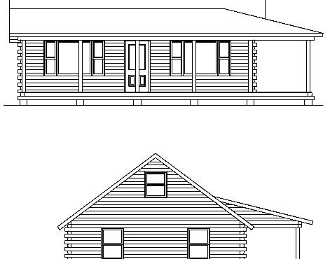 Log Home Plan #01842
