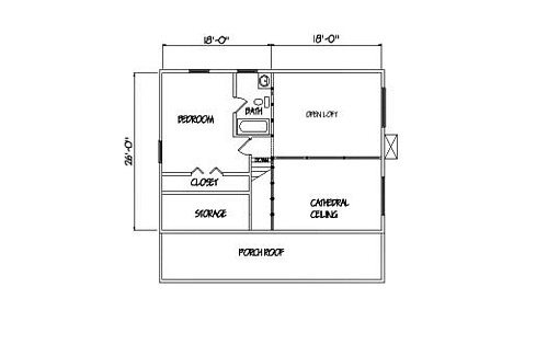 Log Home Plan #01844