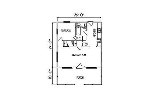Log Home Plan #01851