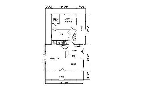 Log Home Plan #01865