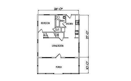 Log Home Plan #01869