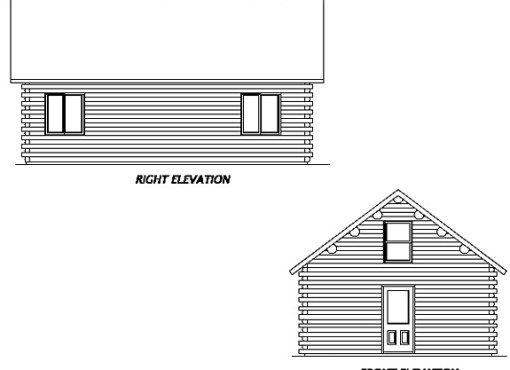 Log Home Plan #01874