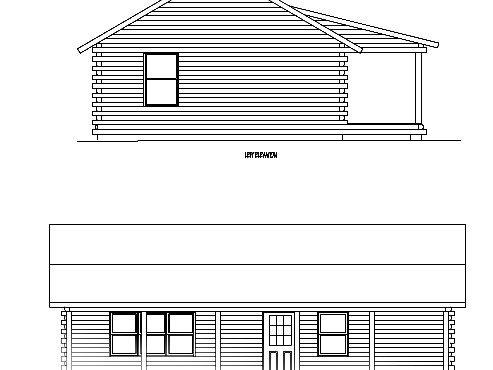 Log Home Plan #01877