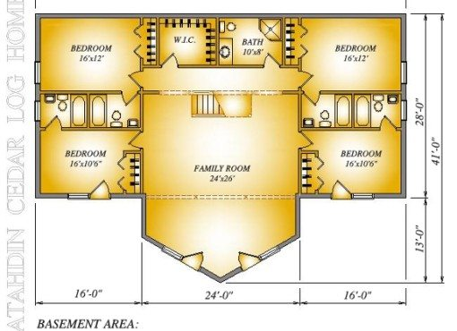 Log Home Plan #01878