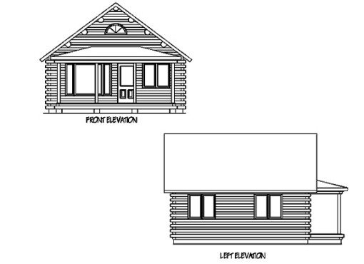 Log Home Plan #01884