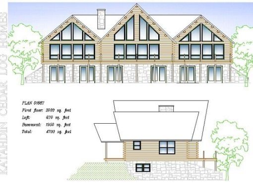 Log Home Plan #01887