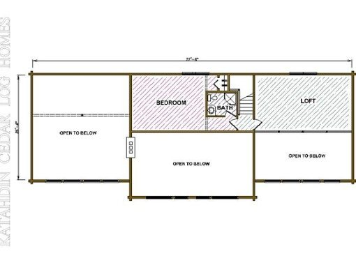 Log Home Plan #01887