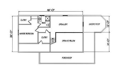 Log Home Plan #01891