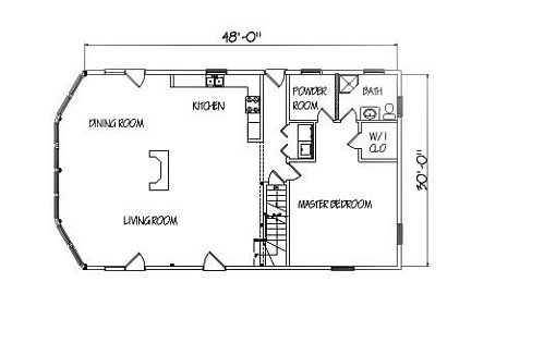 Log Home Plan #01897