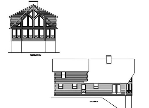 Log Home Plan #01897