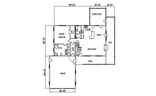Log Home Plan #01899