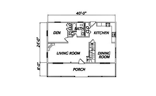 Log Home Plan #01904