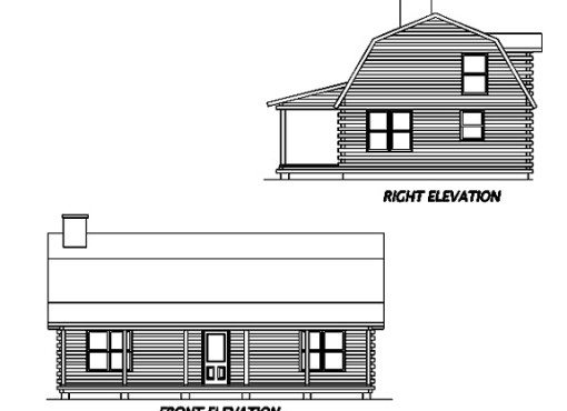Log Home Plan #01904
