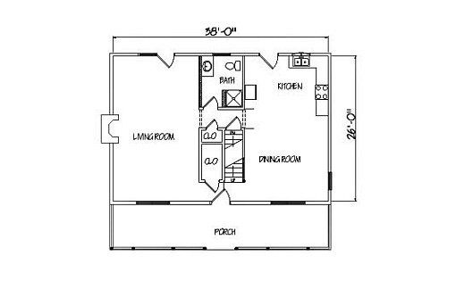 Log Home Plan #01905
