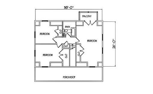 Log Home Plan #01905