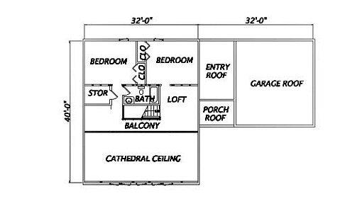 Log Home Plan #01907