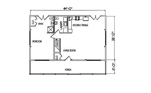 Log Home Plan #01913