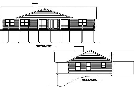 Log Home Plan #01916