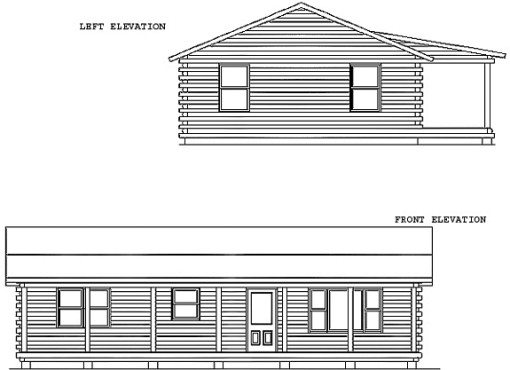Log Home Plan #01918