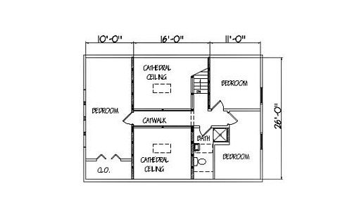 Log Home Plan #01923