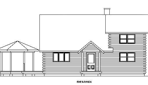 Log Home Plan #01924