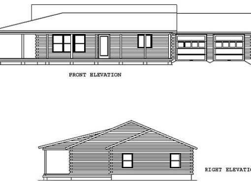 Log Home Plan #01937