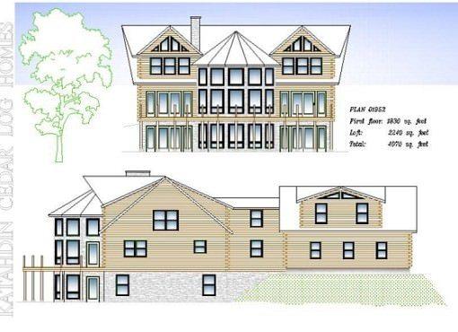 Log Home Plan #01952
